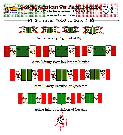 Virtual Armchair General: Mexican American War Flags Collection