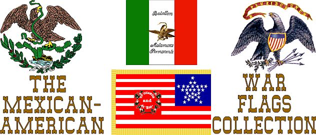 Mexican American War Flags Collection